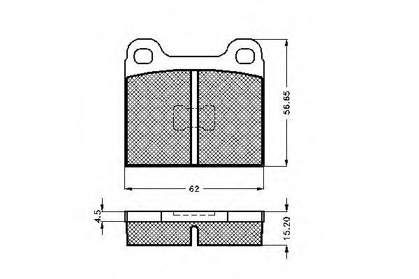 SPIDAN 30065 Тормозные колодки