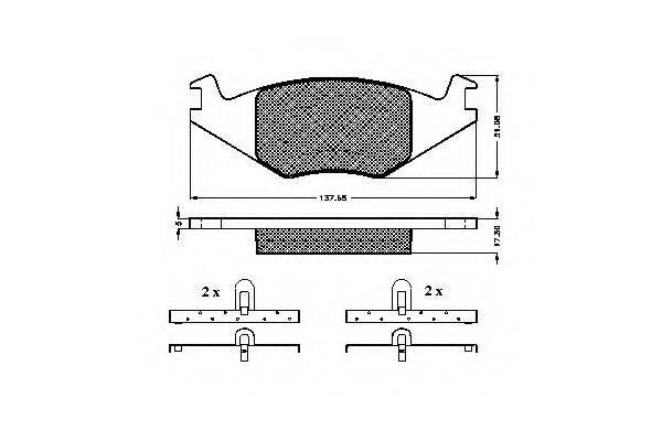 SPIDAN 31015 Тормозные колодки