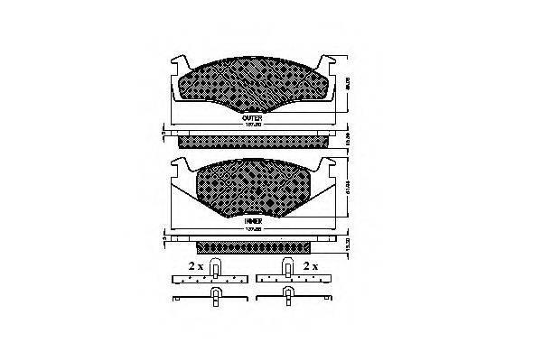 SPIDAN 31017 Тормозные колодки