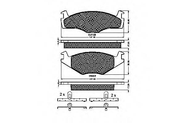 SPIDAN 32022 Тормозные колодки
