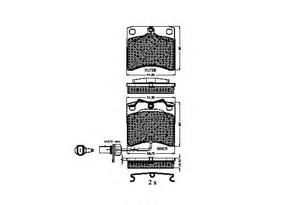 SPIDAN 32241 Тормозные колодки