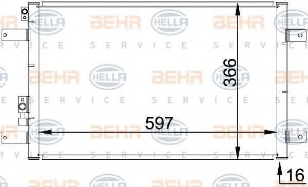 BEHR HELLA SERVICE 8FC351036111 Конденсатор кондиционера