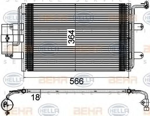 BEHR HELLA SERVICE 8FC351036381 Конденсатор кондиционера