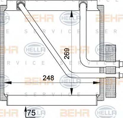 BEHR HELLA SERVICE 8FV351210141 Испаритель кондиционера
