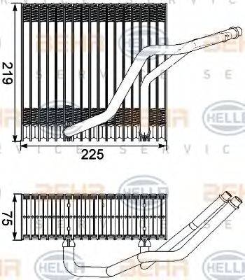 BEHR HELLA SERVICE 8FV351210541 Испаритель кондиционера