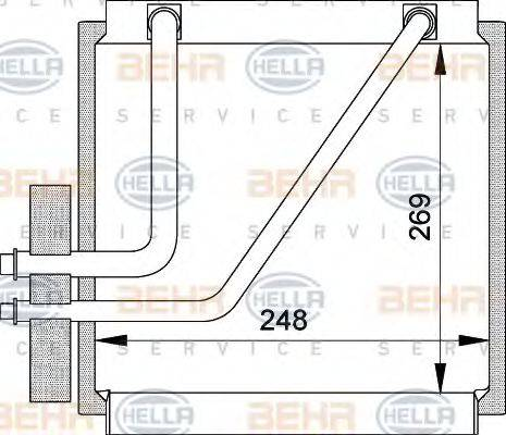 BEHR HELLA SERVICE 8FV351210641 Испаритель кондиционера
