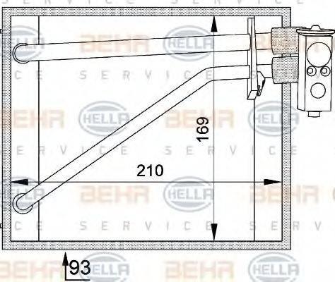 BEHR HELLA SERVICE 8FV351211131 Испаритель кондиционера