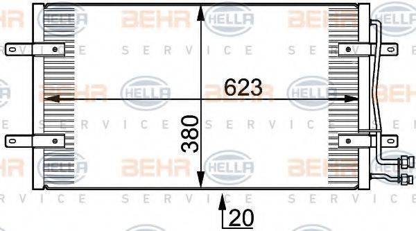 BEHR HELLA SERVICE 8FC351300201 Конденсатор кондиционера