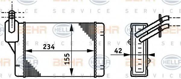 BEHR HELLA SERVICE 8FH351311011 Радиатор печки