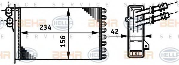 BEHR HELLA SERVICE 8FH351311021 Радиатор печки