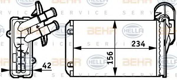 BEHR HELLA SERVICE 8FH351311041 Радиатор печки