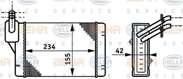 BEHR HELLA SERVICE 8FH351311061 Радиатор печки
