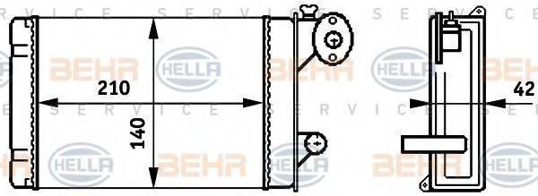BEHR HELLA SERVICE 8FH351313341 Радиатор печки
