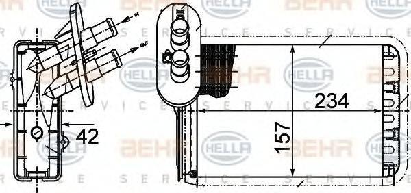 BEHR HELLA SERVICE 8FH351313451 Радиатор печки