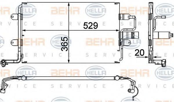 BEHR HELLA SERVICE 8FC351318581 Конденсатор кондиционера