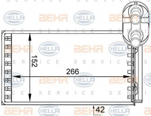 BEHR HELLA SERVICE 8FH351333051 Радиатор печки
