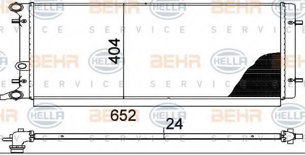 BEHR HELLA SERVICE 8MK376713781 Радиатор охлаждения двигателя