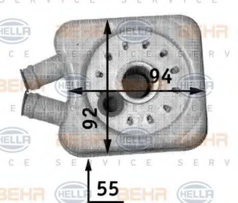 BEHR HELLA SERVICE 8MO376726221 Масляный радиатор