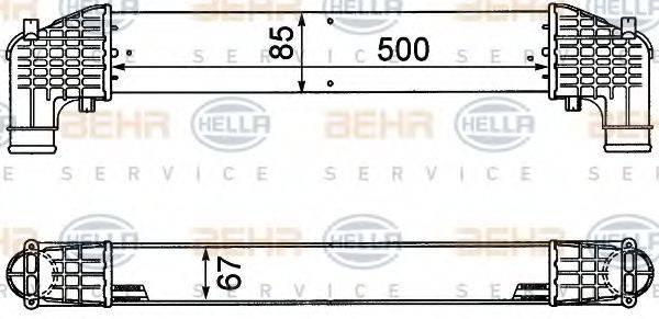 BEHR HELLA SERVICE 8ML376776571 Интеркулер