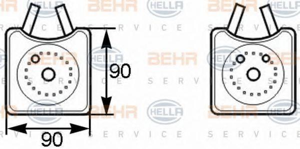 BEHR HELLA SERVICE 8MO376778001 Масляный радиатор