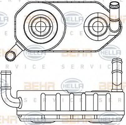 BEHR HELLA SERVICE 8MO376787671 Масляный радиатор, автоматическая коробка передач