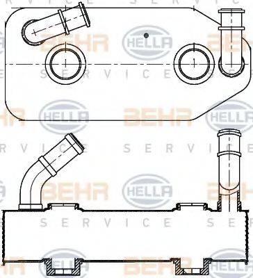 BEHR HELLA SERVICE 8MO376787681 Масляный радиатор, автоматическая коробка передач