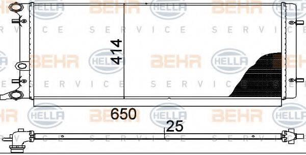 BEHR HELLA SERVICE 8MK376888784 Радиатор охлаждения двигателя