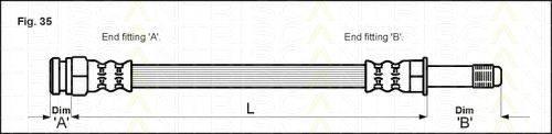 TRISCAN 815010109 Тормозной шланг