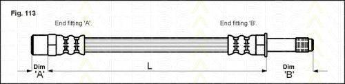 TRISCAN 815010210 Тормозной шланг