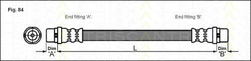 TRISCAN 815029114 Тормозной шланг