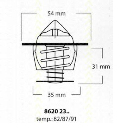 TRISCAN 86202387 Термостат