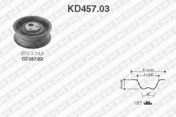 SNR KD45703 Комплект ремня ГРМ