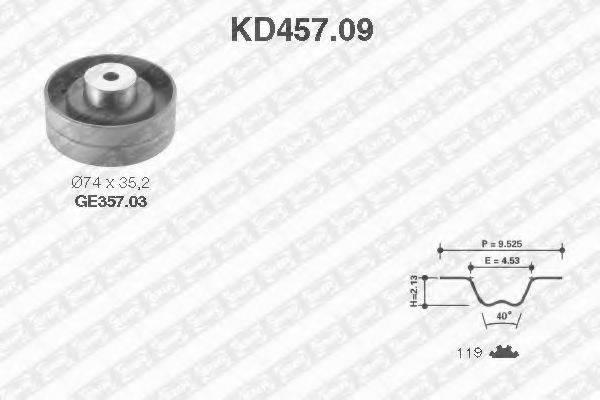 SNR KD45709 Комплект ремня ГРМ