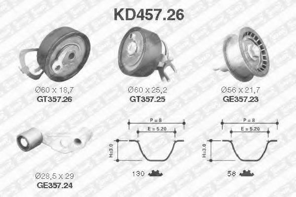 SNR KD45726 Комплект ремня ГРМ
