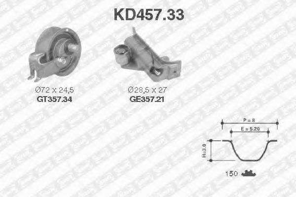 SNR KD45733 Комплект ремня ГРМ