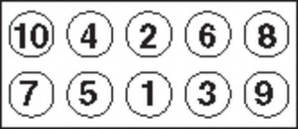 PAYEN HBS043 Комплект болтов головки цилидра