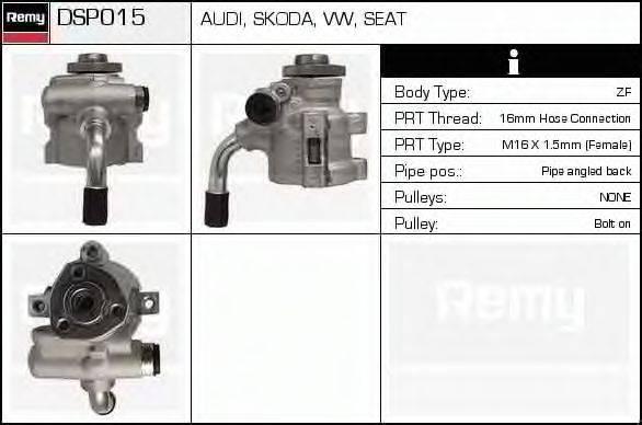DELCO REMY DSP015 Гидравлический насос, рулевое управление