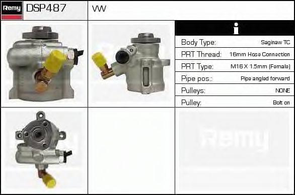 DELCO REMY DSP487 Гидравлический насос, рулевое управление