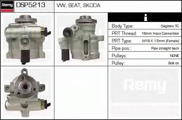 DELCO REMY DSP5213 Гидравлический насос, рулевое управление