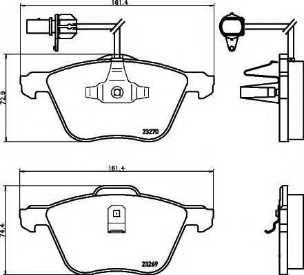 PAGID T1195 Тормозные колодки