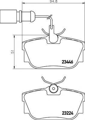 PAGID T5135 Тормозные колодки
