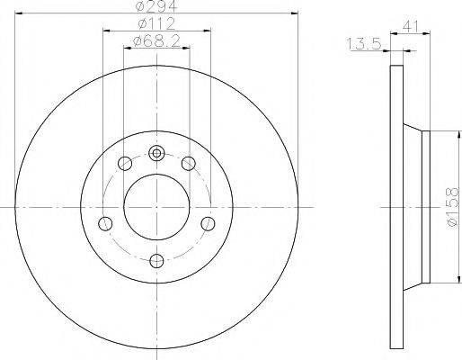 PAGID 53975 Тормозной диск