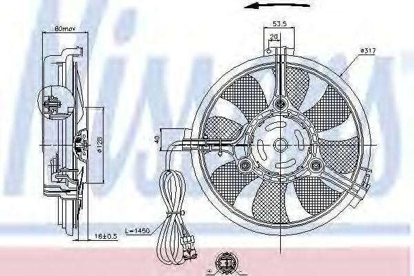 NISSENS 85519 Вентилятор конденсатора кондиционера