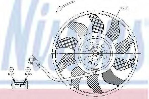 NISSENS 85618 Вентилятор системы охлаждения двигателя