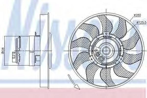 NISSENS 85619 Вентилятор системы охлаждения двигателя