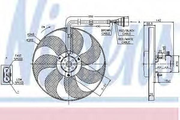 NISSENS 85683 Вентилятор системы охлаждения двигателя