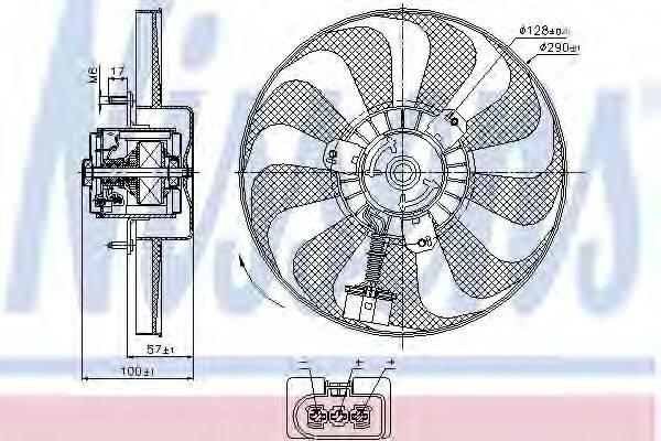 NISSENS 85684 Вентилятор системы охлаждения двигателя