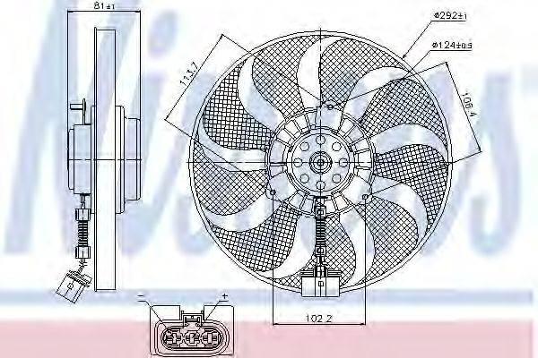 NISSENS 85715 Вентилятор системы охлаждения двигателя