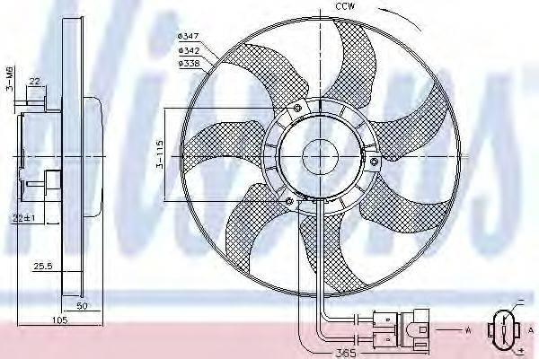 NISSENS 85749 Вентилятор системы охлаждения двигателя