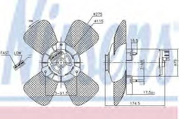 NISSENS 85801 Вентилятор системы охлаждения двигателя